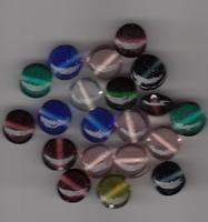 Plat ronde  kraaltjes helder 13x5 mm