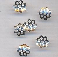 Kralenkapje mini rond zilver