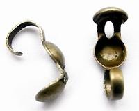 Kalotjes met haakje brons