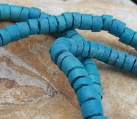Kokosnoot  turquoise/blauw plat rond