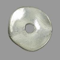 Plat schijfje twist zilver