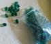 Groene kraal zilverfolie