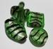Groene zilverfolie zwart gestreept