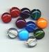 Platte ronde kraal helder/opaque 10x17 mm