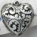 Metal look hanger hart antiek zilver