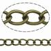Twist ovalen ketting antiek brons