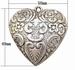 Metal look hart groot antiek zilver