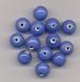 Blauwe kraal opaque 10