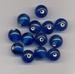 Donker blauwe kraal helder 10