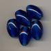 Donker blauwe kraal ovaal