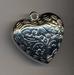 Antiek zilveren hart