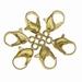 Karabijn ijzer slotje goud