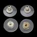 Achtrkantje siliconen met Brass platina