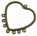 Hart component antiek brons