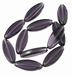 Ovaal Paars violet rijst plat