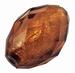 Grote kraal bruin zilverfolie past door een spang