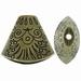 Kap ovaal antiek brons