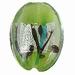 Mint groen zilverfolie lampwork ovaal